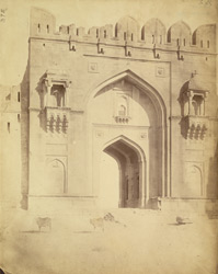 Close view of the Suhaili Gate of the Fort, Rohtak.